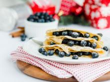 Holiday Spiced Crepe With Berries